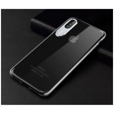 iphone x/xs dėklas rock classy pc plastikas permatomas