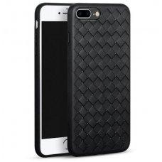 iphone 7 plus / 8 plus dėklas rock weaving tpu juodas