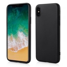 iphone x/xs DĖKLAS RUBBER TPU JUODAS