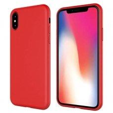 Akcija! iphone x/xs dėklas silicone cover silikonas raudonas