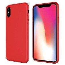 iphone x/xs dėklas silicone cover silikonas raudonas