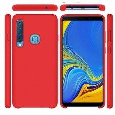 """Samsung galaxy A9 2018 dėklas """"liquid silicone cover"""" silikonas raudonas"""