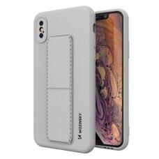 Iphone X/XS dėklas WOZINSKY KICKSTAND pilkas