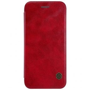 iphone 7 / 8 leather Flip case Nillkin qin red