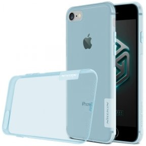 iphone 7 / 8 soft transperant 0.6 mm TPU case Nillkin Nature blue