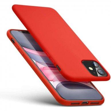 Iphone 11 dėklas MERCURY SILICONE raudonas
