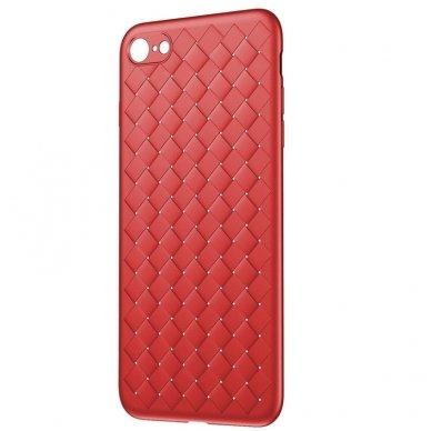 """iphone 5/ 5S / SE DĖKLAS """"N TOP S KNIT"""" SILIKONAS raudonas"""