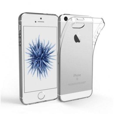 Akcija ! iPhone 5 / 5s / SE DĖKLAS silikonas ULTRA SLIM 0,3MM PERMATOMAS