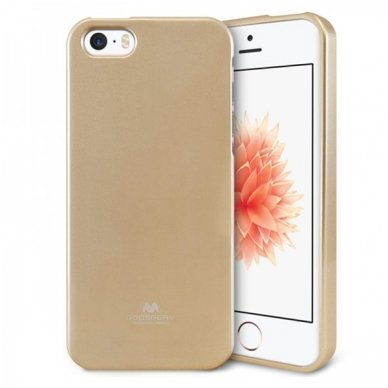 iphone 5/ 5S / SE DĖKLAS MERCURY JELLY CASE SILIKONINIS auksinis
