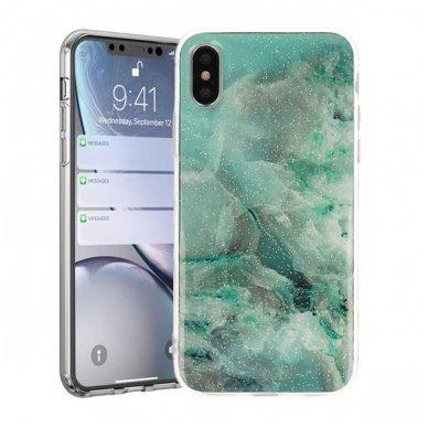 Iphone x / xs dėklas Vennus Stone TPU plastikas žalias