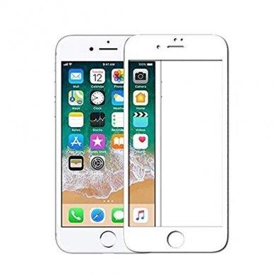 """Akcija! Iphone 6\6s ekrano apsauga lenktas apsauginis stiklas """"Full Glue""""H Pro 5D H9+ baltais kraštais"""