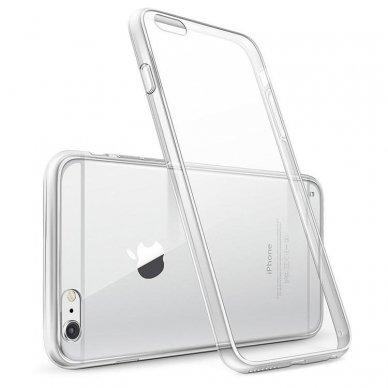 Akcija! Iphone 6/6s plonas permatomas silikoninis dėklas Ultra Slim 0,3mm