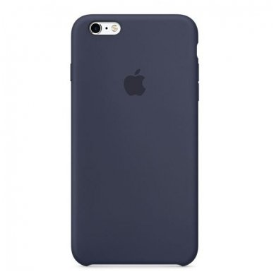 "iPhone 6/6s Dėklas ""apple Silicone case"" midnight blue 2"