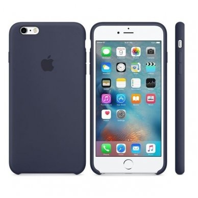 """iPhone 6/6s Dėklas """"apple Silicone case"""" midnight blue"""
