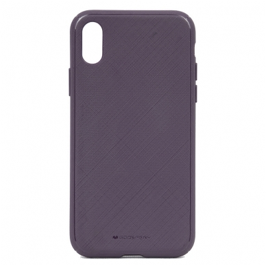 iphone xr DĖKLAS MERCURY GOOSPERY STYLE LUX TPU violetinis