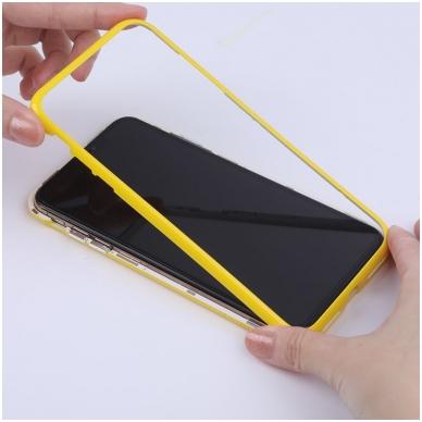 iphone xr dėklas nillkin ombre pc+grūdintas stiklas geltonas 5