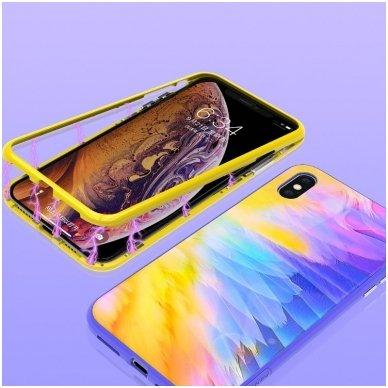 iphone xr dėklas nillkin ombre pc+grūdintas stiklas geltonas 2
