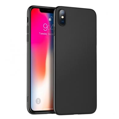 iphone xr dėklas silikonas 0,8mm matinis juodas