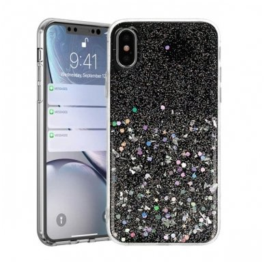 Iphone xr dėklas Vennus Briliant TPU juodas