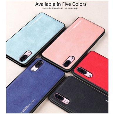 """Iphone XR dėklas x-level """"Exquisite"""" TPU IR VELIŪRAS raudonas 2"""