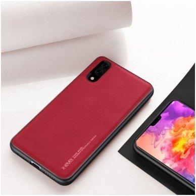 """Iphone XR dėklas x-level """"Exquisite"""" TPU IR VELIŪRAS raudonas"""