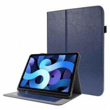 Lenovo Tab M10 Plus 10.3 X606 atverčiamas dėklas Folding Leather tamsiai mėlynas