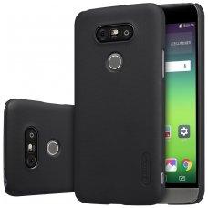 LG G5 dėklas Nillkin frosted PC plastikas juodas