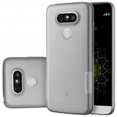 LG G5 dėklas Nillkin Nature permatomas 0,6 mm TPU