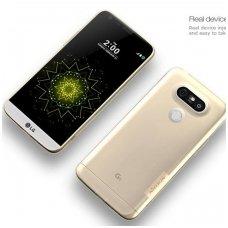 LG G5 dėklas Nillkin Nature permatomas AUKSINIS 0,6 mm TPU