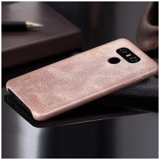 LG G5 dėklas X-LEVEL VINTAGE eko oda SMĖLINIS