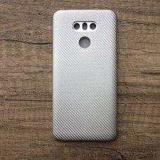 LG G6 baltas guminis dėklas atsparus smūgiams