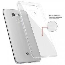 Akcija! LG G6 dėklas Skaidrus 0,3mm SILIKONINIS ultra slim