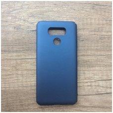 akcija! LG G6 mėlynas matinis smugiams atsparus plastikinis dėklas