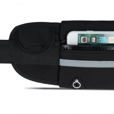 Dėklas ant juosmens Elastic Sport Case juodas (2 dizainai) 7