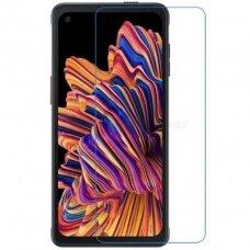 samsung galaxy xcover pro ekrano apsauginis stikliukas Tempered Glass GOLD