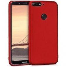 Y6 2018 PRIME dėklas jelly flash mat silikonas raudonas
