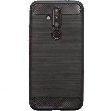 Nokia 4.2 dėklas carbon lux silikonas juodas