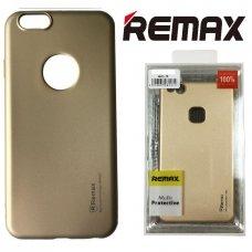 LG Q7 Dėklas REMAX matinis, auksinis