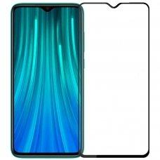 xiaomi redmi 8 ekrano Apsauginis grūdintas stikliukas 5D CF Full Glue juodais kraštais