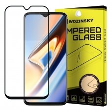 OnePlus 7T black stiklas Wozinsky Tempered Glass Full Glue juodais kraštais