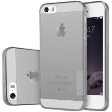 Pilkas permatomas dėklas Apple iPhone 5/ 5s / SE Nillkin Nature TPU