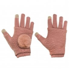 """Pirštinės išmaniesiems telefonams """"TOUCH Glove 2 in 1"""" rožinės (universalus dydis)"""