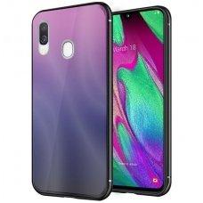 """Samsung a40 Dėklas """"Aurora""""  rožinis-juodas"""