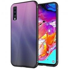 """Samsung a70 Dėklas """"Aurora""""  rožinis-juodas"""