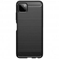 "Samsung galaxy A22 5g dėklas ""Carbon case"" TPU juodas"