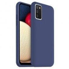 Samsung Galaxy A03s dėklas TPU rubber tamsiai mėlynas