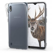 Samsung galaxy a10 DĖKLAS HIGH CLEAR 1,0MM SILIKONAS SKAIDRUS