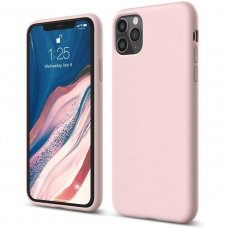 Iphone 11 pro dėklas Liquid Silicone rožinis