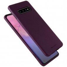 """AKCIJA! Samsung galaxy s10 dėklas Mercury Goospery """"Style Lux"""" TPU violetinis"""