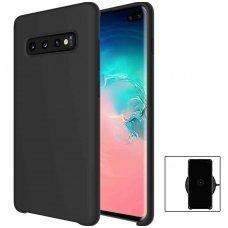 Samsung galaxy s10 dėklas silicone cover silikonas juodas